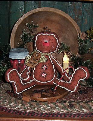 Paper Gingerbread Man (Primitive Gingerbread Man Cookie Christmas Patti's Ratties Paper Pattern)