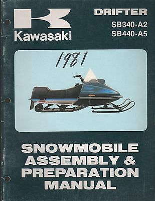 1981 KAWASAKI SNOWMOBILE DRIFTER ASSEMBLY & PREPARATION MANUAL  (760)