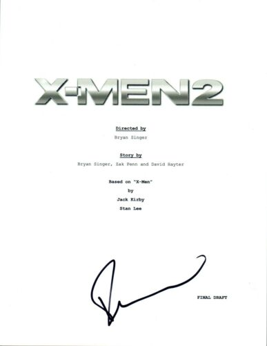 Famke Janssen Signed Autographed X-MEN 2 Full Movie Script COA VD