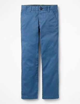 Boden Slim Fit Boys Cotton Chinos Trousers Schooner Blue Age 4 Bnwt