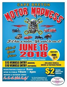Cape Breton Motor Madness 2018 June 16th!!!