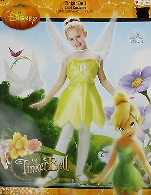 Halloween Disney Tinker Bell Costume Size Medium 7-8 26-27 Chest 22-23 Waist NWT