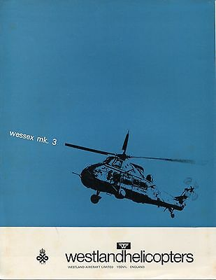 WESTLAND WESSEX MK.3 HELICOPTER MANUFACTURERS SALES BROCHURE