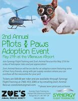 Pilots and Paws helicopter rides Fundraiser