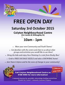 Colyton Neighbourhood Centre Open Day Colyton Penrith Area Preview