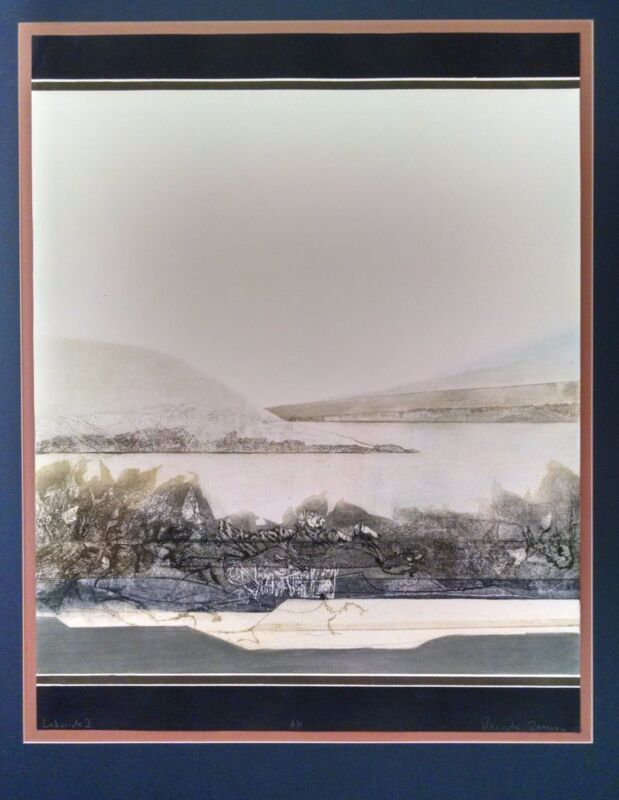 "artist proof, Fine art Print, ""Lakeside, II"" - Renata Zerner, German-born artist"