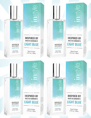 4 Instyle Fragrances An Impression Spray Cologne for Women Light Blue 3.4 OZ