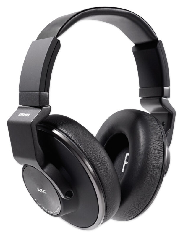 AKG K553 MK2 MKII Closed Back Studio Monitoring Headphones w/Detachable Cable