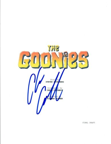 Chris Columbus Signed Autographed THE GOONIES Full Movie Script COA VD