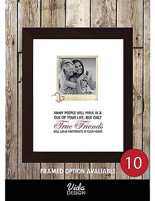 Best Friend Gift, Funny quote, Christmas gift, personalised photo print ()