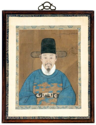 Framed Korean Official Portrait Joseon Dynasty