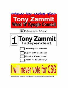 Kyogle Council Election....Ward 'B'.........September 10, 2016 Kyogle Kyogle Area Preview