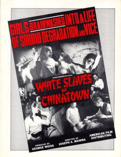 WHITE SLAVES OF CHINATOWN 1964 Vintage ORIGINAL Sexploitation SLEAZE Pressbook