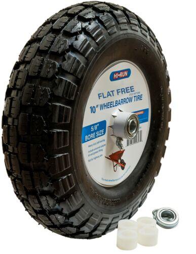 "Wheelbarrow Assembly 10""TIRE / 4"" RIM Flat Free with universal bearing kit"