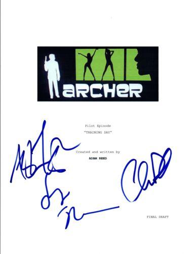 Judy Greer & Chris Parnell Aisha Tyler Signed ARCHER Training Day Script COA VD