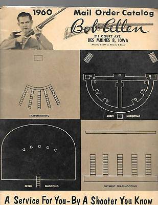 1960 BOB ALLEN CATALOG Shooting Supplies Clothing