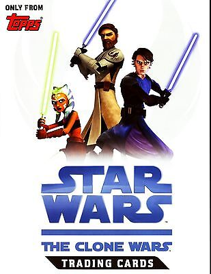 STAR WARS CLONE WARS 2008 Topps COMPLETE TRADING CARD SET (1-90) w/Wrapper
