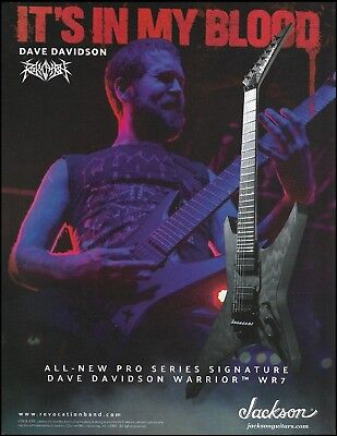 Revocation Dave Davidson Jackson Pro Series Signature Warrior WR7 guitar ad #2B for sale  Shipping to Canada