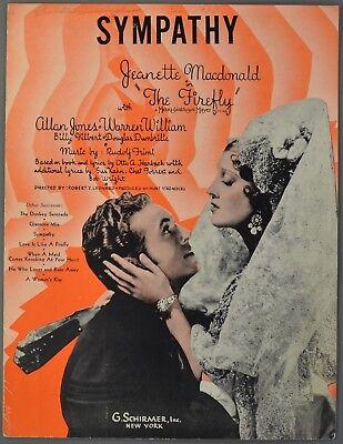 1937 SYMPATHY Jeanette MacDonald FIREFLY Allan Jones FRIML & HARBACH & KAHN - Fireflies Ukulele