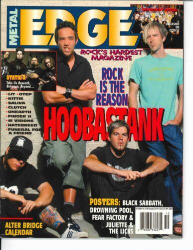 Metal Edge Magazine October 2004 Hoobastank Clutch Superjoint Ritual Static X