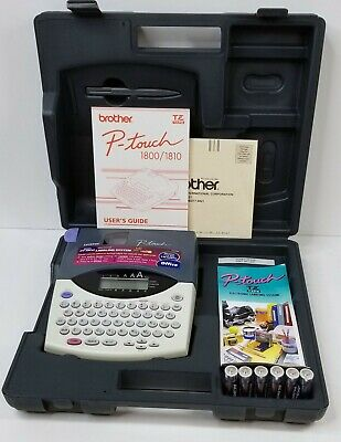Brother Pt-1810 P-touch Label Maker Printer Electronic Labeling System Perfect