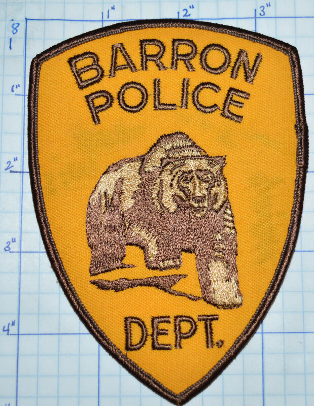 WISCONSIN, BARROW POLICE DEPT PATCH