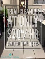 COMMERCIAL CLEANING AT ONLY $20/hr