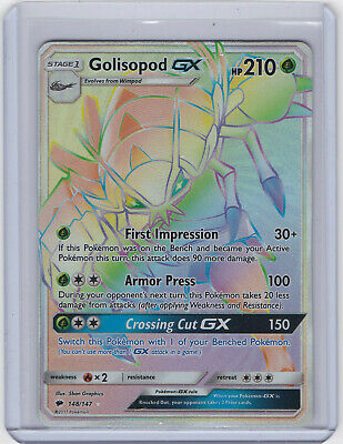 Pokemon Card Golisopod Full Art GX SV48/SV94 SM Hidden Fates Ultra Rare Shiny
