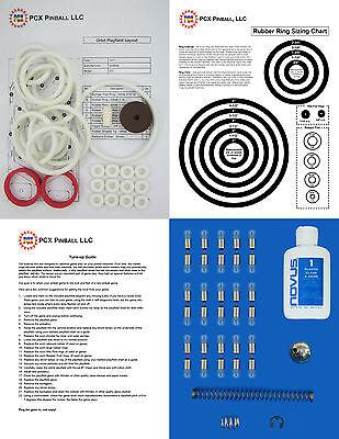 1971 Gottlieb Orbit Pinball Machine Tune-up Kit - Includes Rubber Ring Kit