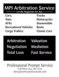 Auto appraisals / arbitration services