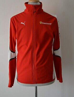 PUMA  FERRARI  MENS  RED AND WHITE  TRACK JACKET SIZE S