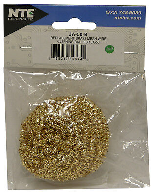 Ecg By Nte Ja-50-b Replacement Brass Mesh Wire Cleaning Ball Solder Tip Cleaner