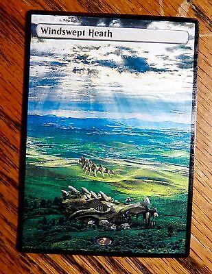 Magic the Gathering Fetch land MTG Altered art Windswept Heath