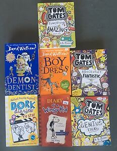 Books- Tom Gates, Dork Diaries, Diary of Wimpy Kid + Parkinson Brisbane South West Preview
