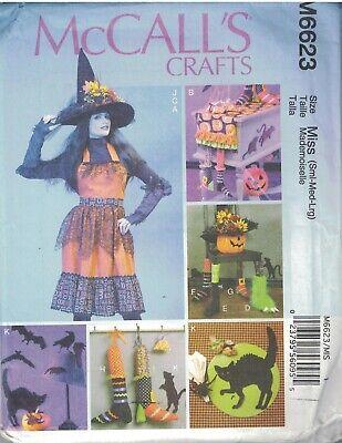 6623 Uncut Mccalls Nähen Muster Halloween Dekor Schürze - Halloween Dekor Muster
