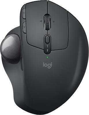Logitech - MX ERGO Plus Wireless Trackball Mouse - Graphite