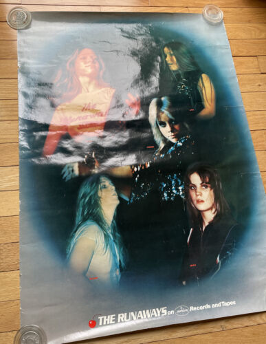 Vintage The Runaways Mercury Records Poster Printed In USA LITA FORD JOAN JETT - $12.50