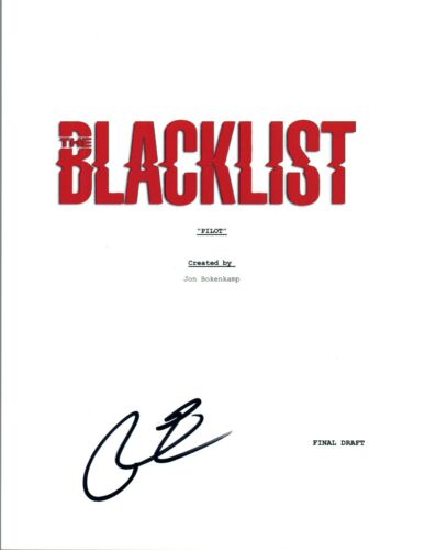Ryan Eggold Signed Autographed THE BLACKLIST Pilot Episode Script COA