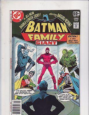 Batman Family #16 DC Comics Giant 1978 Batgirl and Robin Full Length Story