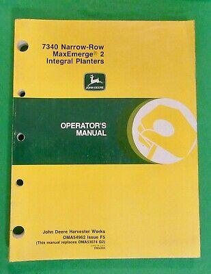John Deere 7340 Narrow Row Maxemerge2 Planters Operators Manual Oma54962