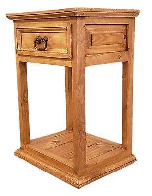 Traditional Rustic Nightstand with 1 - 1 Drawer Traditional Nightstand