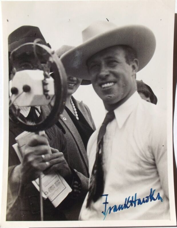 Frank Hawks Record Breaking Pilot Aviation Pioneer Signed Photo Killed in 1938