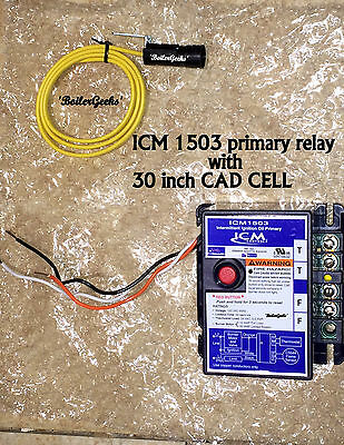 Icm1503 Oil Burner Primary Control With 30 Cad Cell Complete