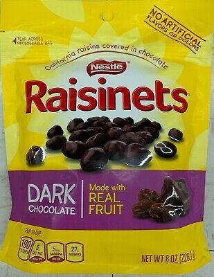 NEW NESTLE RAISINETS 8 OZ BAG CALIFORNIA RAISINS COVERED IN DARK CHOCOLATE BUYIT