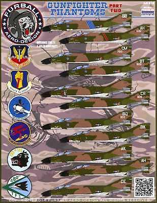 (Furball Decals 1/48 MCDONNELL DOUGLAS F-4C/D PHANTOM II GUNFIGHTER PHANTOMS #2)
