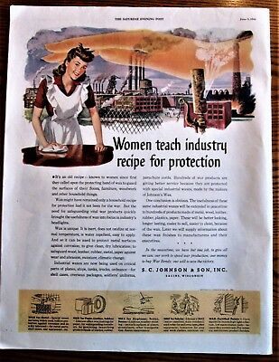 Women Teach Industry Recipe for Protection WWII Homefront Ad