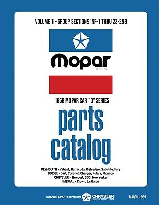 1968 Chrysler Car Body & Chassis Parts Book