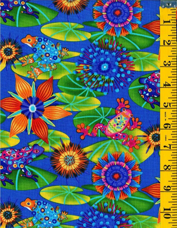 Frog Quilt Fabric Ebay