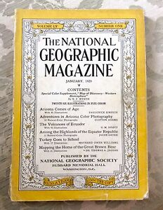 FIVE NATIONAL GEOGRAPHIC MAGAZINES (1929 - 1985)