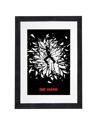 Die Hard  - John McClane Art Work Print With Frame Mount Ready to Hung